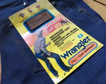 Deadstock Wrangler Western Cut Wrandom 350 Staight Leg 29/30 Denim Jeans