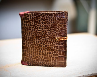 Small Faux Alligator Leather Notebook