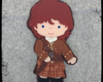 Key chain or bookmark Jamie Fraser  from Outlander.