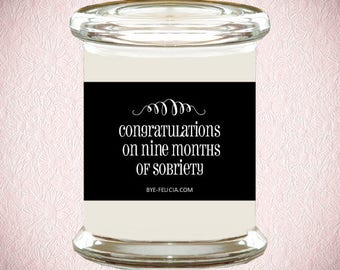 9 Months Sober   Funny New Baby   Pregnancy Congrats   Sober Pregnant   Funny Baby Card   Funny Baby Shower   Funny New Mom Gift (90)