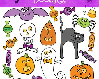 COMBO PACK Halloween digital clip art and Stamp