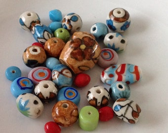 Assorted Ceramic Beads