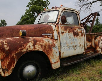 Route 66 - Rt 66 - Historic Route 66 - Tow Truck- Bulger Towing - Missouri - Fine Art Photography