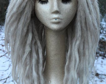 CUSTOM Lace Front Dread Wig * Synthetic Lace Front Dreadlocks * Lacefront Loc Wig * Hair Jewelry * Dreadlocks * Dread Beads *