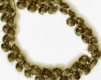 Pyrite faceted briolettes.  Approx. 6.5x6.5mm.   Select a quantity.