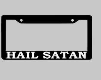 Hail Satan, License Plate Frame, Hail Satan Car Accessories