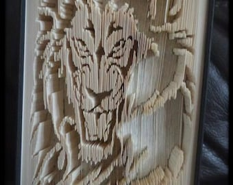 Book Folding Pattern - Lion- Shadow Fold - 499 pages