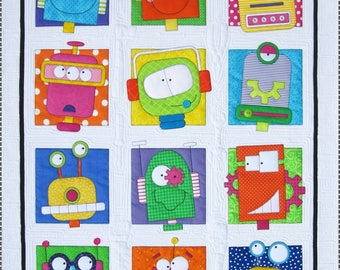 Robots Fabric Kit & Quilt Pattern