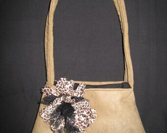 Perky Flower on Suede
