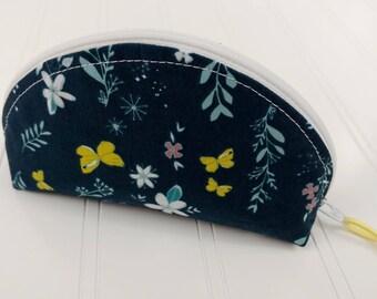 Dumpling Zipper Pouch - Butterfly Garden