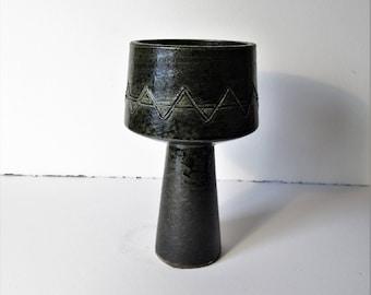 Vintage mid century modern Toyo ikebana vase, japanese ceramic vase, mcm decor, minimalist ceramics