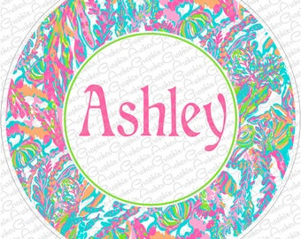 Lilly Pulitzer Inspired Monogram Spare Tire Cover   Pick your Favorite colors and Pattern!
