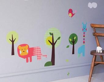 Safari Animal Wall Stickers