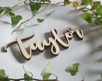 wedding place names | personalised wedding favours | wedding favours | decorative letters | wooden letters | laser cut letters | table decor