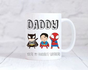 Father's Day Gift Daddy You're My Favourite Superhero Mug Father's Day Birthday Gift Daddy Superhero Gift