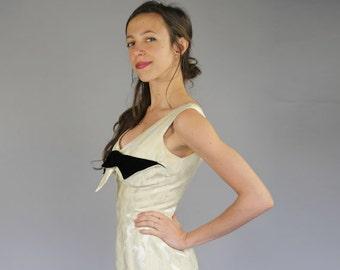 1950's Firenze Brocade & Velvet Shelf Dress | S