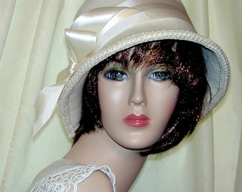 Custom Convertible 3 in 1 cloche - Downton Abbey hat, Miss Fisher, Great Gatsby hat