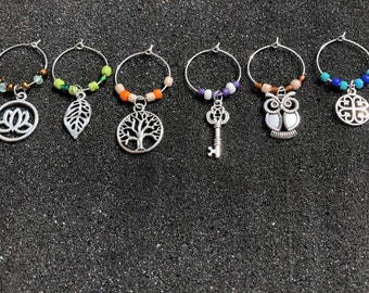 Assorted wine charms
