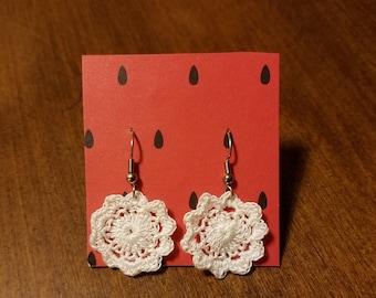 Crochet Medallion Earrings