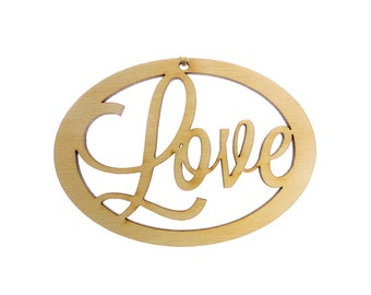 Love Ornament - Love Ornaments - Love Decorations - Love Decor - Love Christmas Ornament - Personalized Free