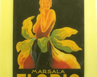 beeswax encaustic collage art deco 20's woman women Italy