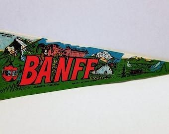 Banff, Alberta, Canada - Vintage Pennant