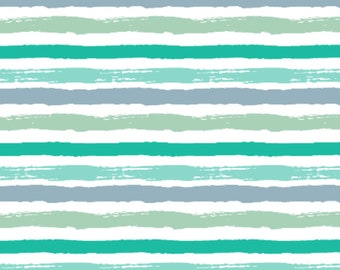 Watercolor Shades of Blue Stripes - Swaddle, Changing Pad Cover, Boppy Cover, Crib Sheet, Minky Blanket, Baby Blanket, Muslin Swaddle