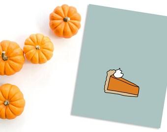 Pumpkin Pie Print - Thanksgiving - Autumn - Fall - November - Happy Thanksgiving Decor - Illustration - Wall Art