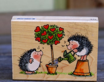 Hedgehog Wood Mounted Rubber Stamp, Penny Black
