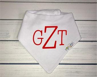 Boys Personalized Monogrammed Baby Bib, Organic Cotton
