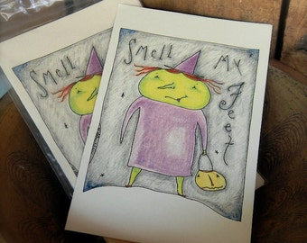 Smell my Feet - LIMITED EDITION Folk Art Notecards from Notforgotten Farm™