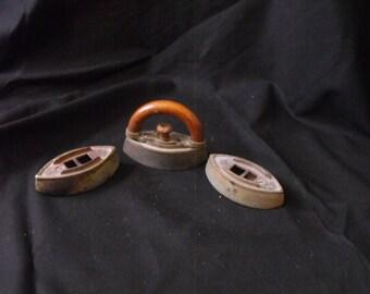 Late 1800's toy iron set