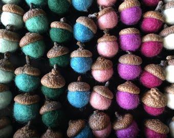 Felted Wool Acorn Magnet | Felt Acorns | Multiple Colors!