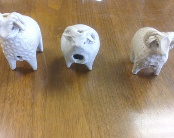 Pottery ram/sheep whistles, includes shipping!