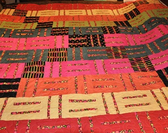 Fractions on a roll full sized quilt