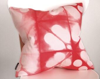 Coral Pillow Cover - Modern Shibori - 18x18 inches