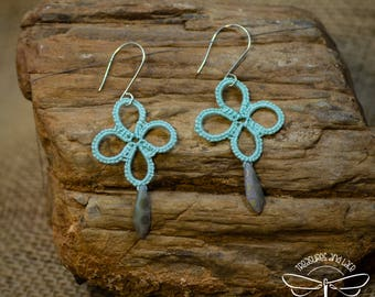 Mint Tatted Lace Earrings