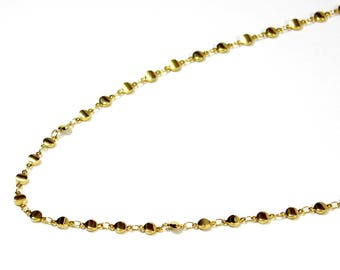 long gold round link
