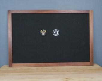 Patch Display Frame, Military Shadow Box, Walnut, Military Morale Patch Display, Merit Badge Display, Military Display Case, Morale Patches