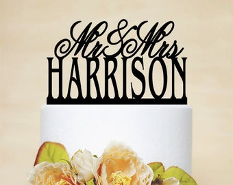"5""-8"" Custom Acrylic Cake Topper, Wedding Cake Topper,Personalized Cake Topper,Modern and Elegant Cake Topper,Acrylic Decoration-006"