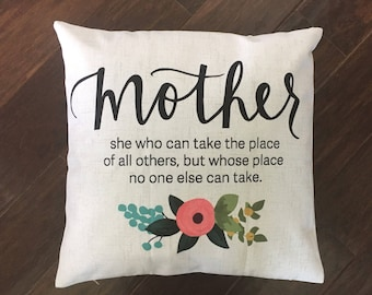 Mother's Day pillow cover