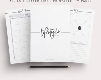Ultimate Life Binder, Lifestyle Planner, Life Planner, Life Binder, Life Kit, Planner Kit, Planner Pack, Printable Planner, Planner Inserts