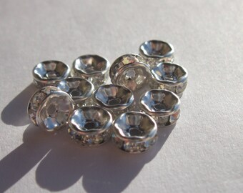 12 (PV51 4) 7 mm rhinestone rondelles