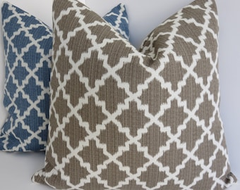 Brown Geometric Pillow Covers- Morrocan Blown Pillow - Geometric Pillows- Brown Pillow Covers- Brown Pillows- Accent Brown Pillows