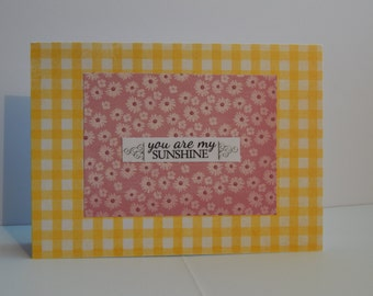 You Are My Sunshine Card, Yellow and Pink