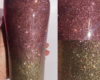 20oz  BlushPink and Gold Ombre Glitter Tumbler/Travel Mug