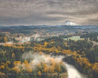 Oregon Photograph | Mt. Hood | Johnsrud Viewpoint | Mountain Print | Fall Photography | Oregon Landscape Photo | Forest Print | Sandy Oregon