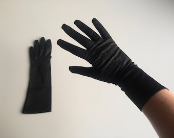 Vintage 50s Black Swiss Gloves