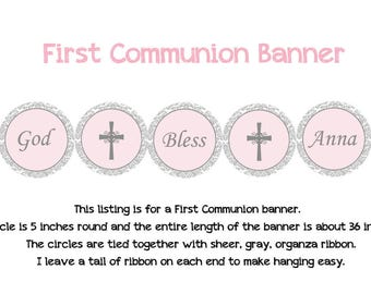 First Communion Banner Holy Communion Banner
