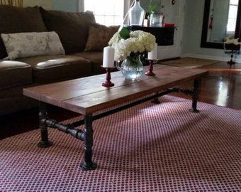 Cedar Industrial Style Coffee Table